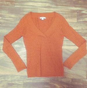 Banana republic orange sweater v neck xs